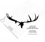 Antler Rack No.2 Silhouette Woodworking Pattern - fee plans from WoodworkersWorkshop® Online Store - antlers,silhouettes,shadow art,animals,yard art,drawings,plywood,plywoodworking plans,woodworkers projects,workshop blueprints