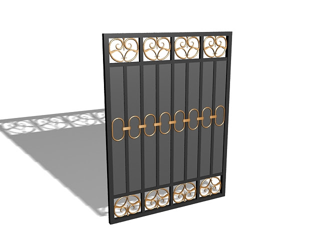 Modern House Gate 3d Model 3ds Max Files Free Download Modeling