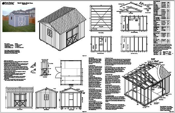 10 X 12 Gable Shed Plans Free