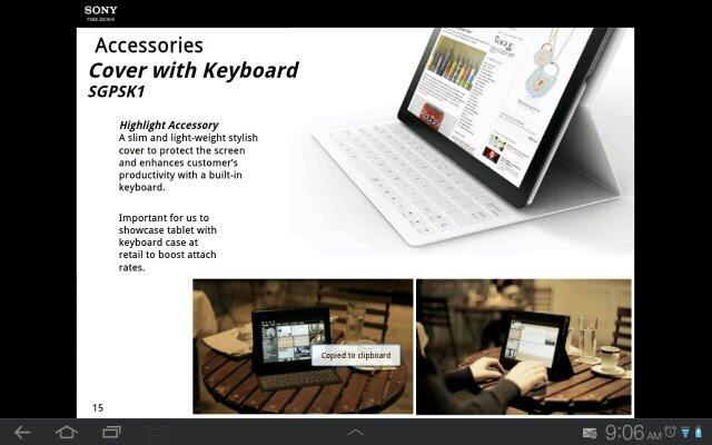 Tablet Xperia