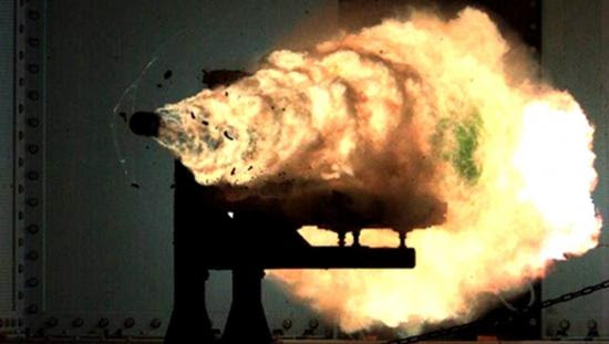 U.S. Navy video by John Williams. U.S. Navy engineers at the Office of Naval Research prepared and test-fired a slug from their rail gun in a 2008 test firing. On Friday, December 9, the ONR will attempt to break its own record.