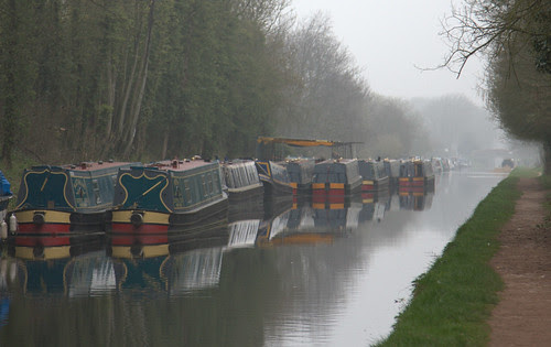 Boats in the mist, Brewood, Staffordshire