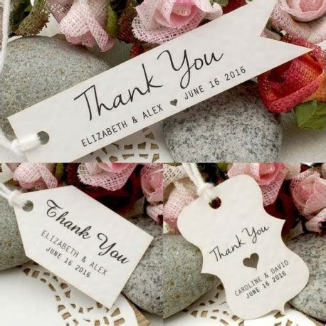 Personalized White Wedding Favor / Thank You / Gift Tags
