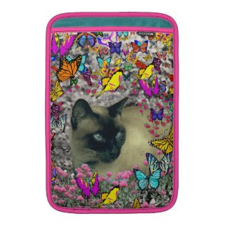 Stella in Butterflies Chocolate Point Siamese Cat Sleeve For MacBook Air