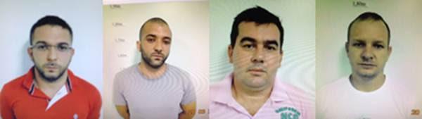 Suspeitos identificados: Sebastião Cássio, Kazi Assaide, Christian Carlos e Jean Roque  (Kelly Almeida/Esp. CB/dD.A Press)