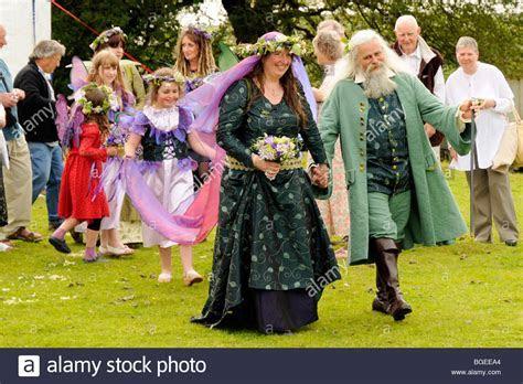 Neo pagan Handfasting wedding ceremony in hills of North