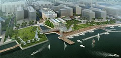Rendering of the Waterfront Park at The Yards