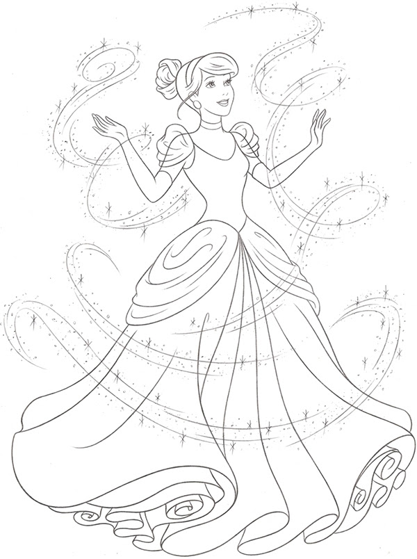 Princess Cinderella Drawing at GetDrawings | Free download