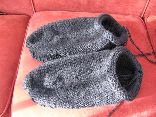 slippers before felting