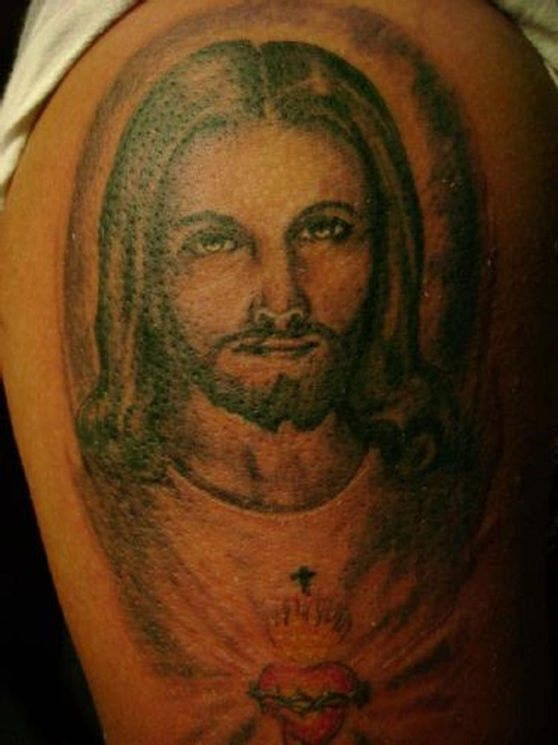 Christ Jesus N Sacred Heart Tattoo Design Tattoos Book 65000