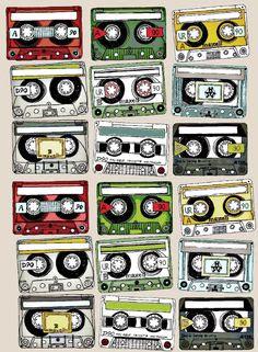 Cassette tape door decs | Door Decs! | Pinterest | Cassette tape ...