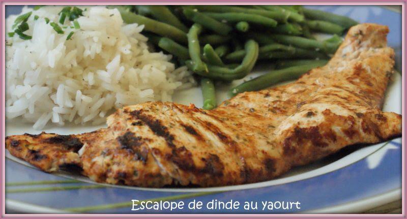 Escalopes de dinde grillées au yaourt ~ Tour en Cuisine