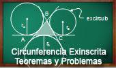 Circunferencia Exinscrita: Teoremas y Problemas.