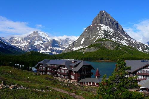 P1120524_2 Many Glacier Hotel, Early Summer Morning