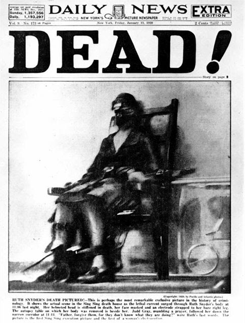 PetaPixel: The First Photo of an Execution by Electric Chair ~ How ...