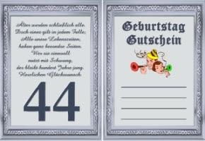 Gutscheine Geburtstag 44 Jahre Kostenlos