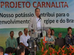Marcelo Déda comemora implantação do Projeto Carnalita (Foto: Flávio Antunes/G1 SE)