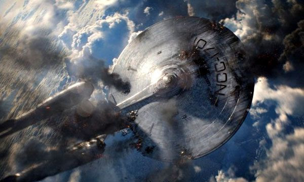 The USS Enterprise falls prey to the wrath of Khan in STAR TREK INTO DARKNESS.
