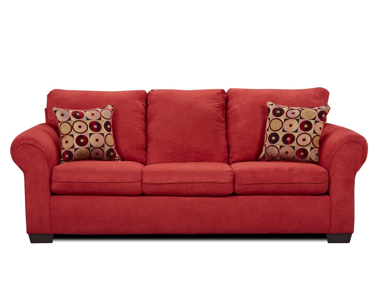 discount red couches