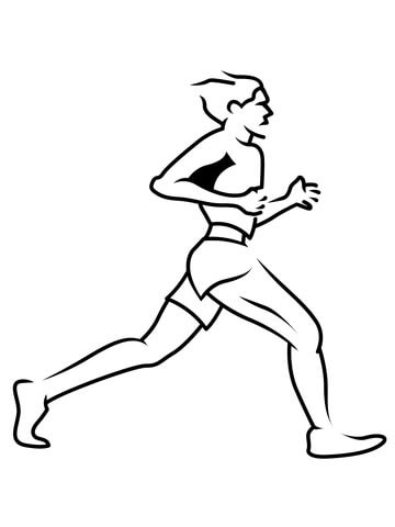 Short Runner Coloring Page Free Printable Coloring Pages