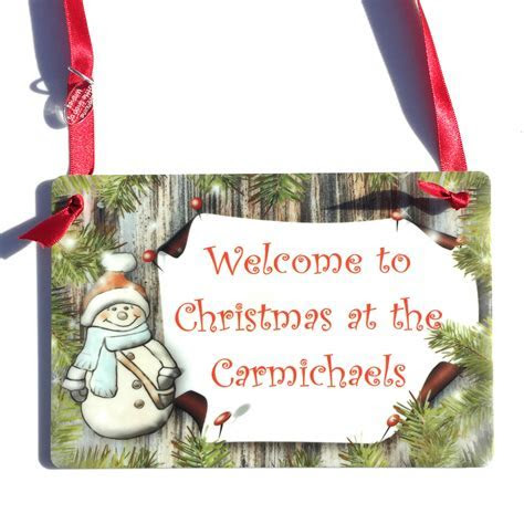 Snowman Family Sign   Welcome to Christmas at the