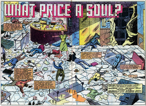 Double-page spread from The Thing #9, by Ron Wilson