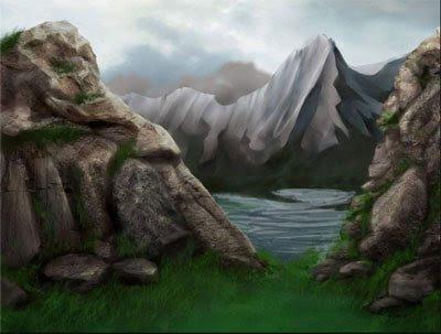Рисуем скалы и камни *