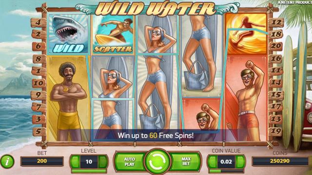 Запускайте игровой автомат Wild Water бесплатно и ловко маневрируйте по теплым волнам на доске для серфинга.Окунайтесь с разбегу в ласковое море на 5 барабанах и 20 игровых линиях.Избербаш
