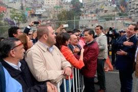 Peña y Ávila durante la inauguración del puente de Hueyetlaco en el Edomex. Foto: Presidencia