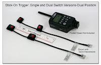 LT1015: Stick-On Trigger Cable - Single and Dual Switch Versions - Dual Position with RJ11 Disconnect