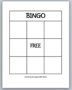 Blank bingo card printable | kid stuff | Pinterest | Bingo, Tags ...