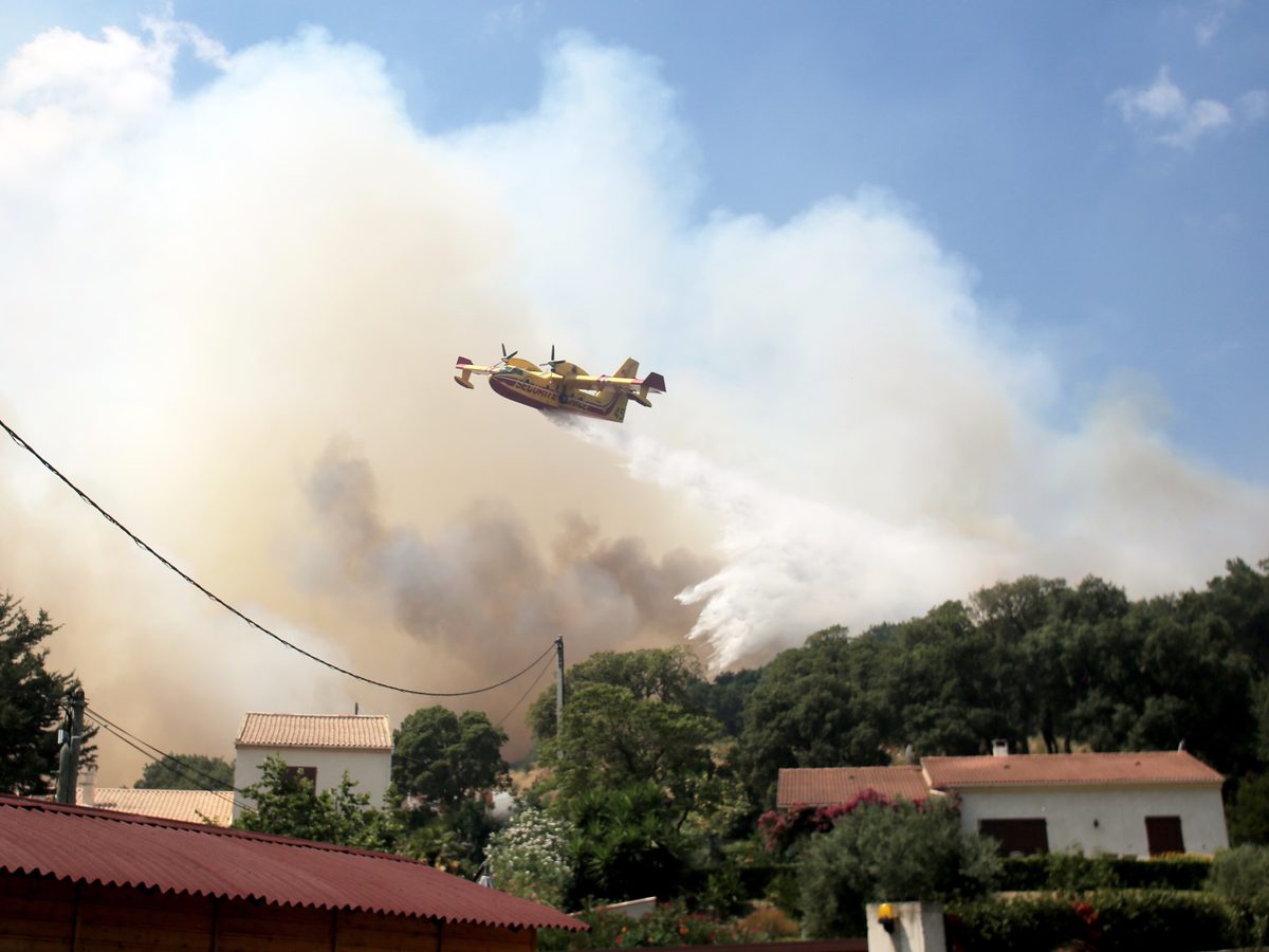 Firefighters fought back, using aircraft to douse affected areas with water.
