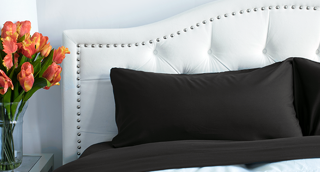 PeachSkinSheets Midnight Black Sheets Color of the Month
