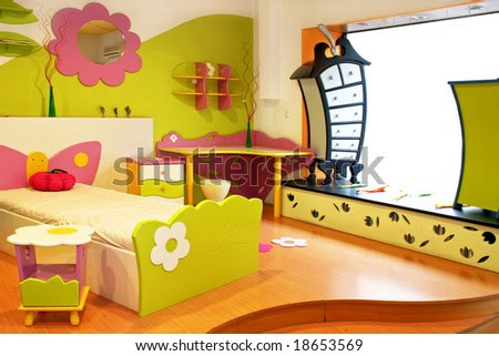 Room Interior  Kids on Interior Of Children Room With Colorful Furniture Stock Photo 18653569