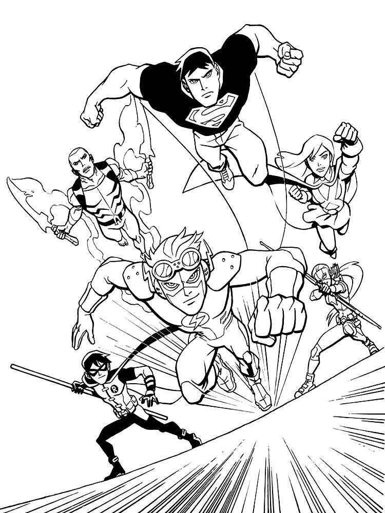 Imprimir Gratis Dibujos Para Colorear Liga De La Justicia