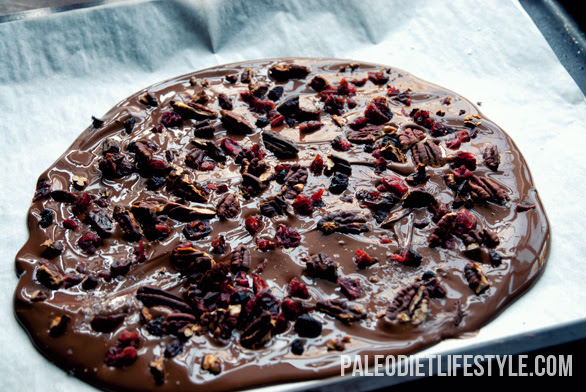 Chocolate bark preparation
