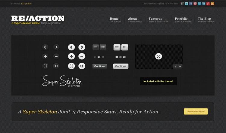 Reaction - Best Responsive WordPress Theme 2012