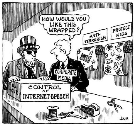 Chiste sobre: El poder vol controlar-nos amb la col·laboració dels mitjans de comunicació.