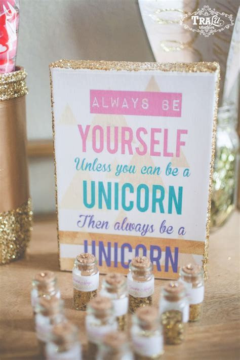 Magical Vintage Unicorn Party ~ Pink and Gold ~ with a DIY