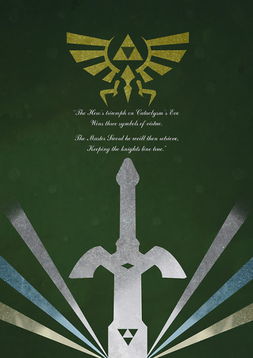 The Legend of Zelda Poster Set by Steven Thornton