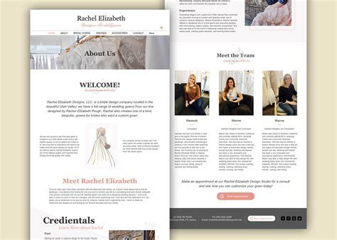 Sarena Masco   Website & Mobile Design for Wedding Dress