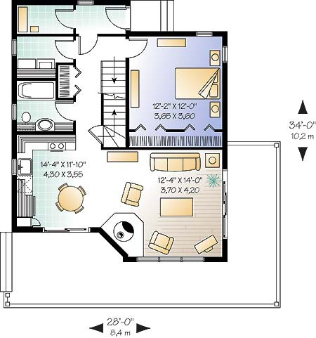 Vacation  home  plan  with plenty of views