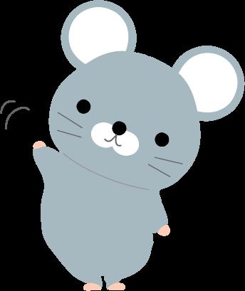 ねずみのイラスト無料イラストフリー素材可愛いネズミ
