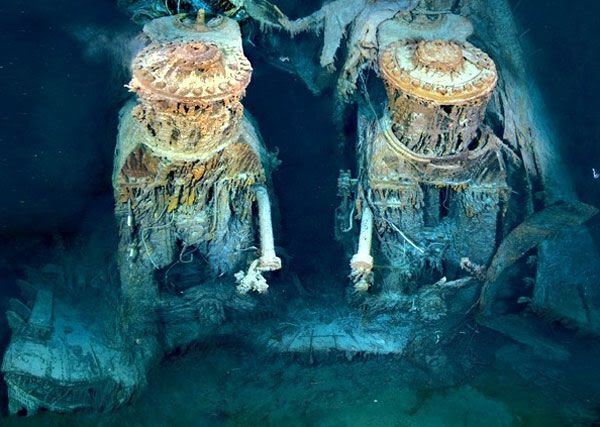 A close-up of two of Titanic's engines.