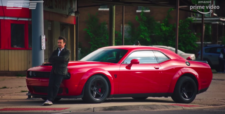 Richard Hammond Leans Against A Dodge Demon Ford Authority
