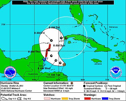 25 Hurricane Rina