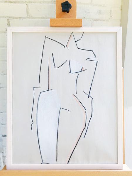 Melbourne Iii In Whitewashed Wood Frame Haley Mathewes Fine Art