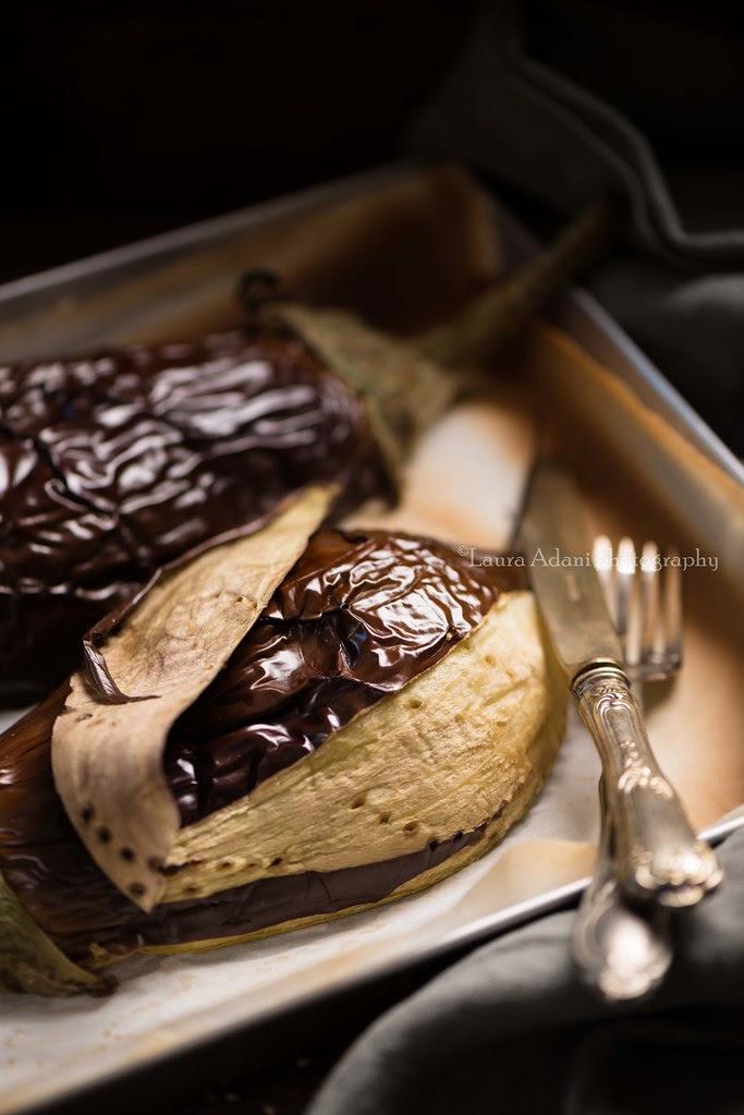 Baba ghanoush – melanzana, thaina e lime