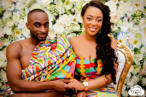 ghanaian weddings  kente prints trend
