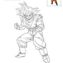 Coloriages Coloriage Goku Frhellokidscom